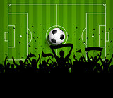 Soccer or Football crowd background