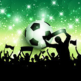 Football or soccer crowd background 1305