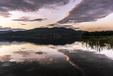 Lake of Varese, landscape at sunset
