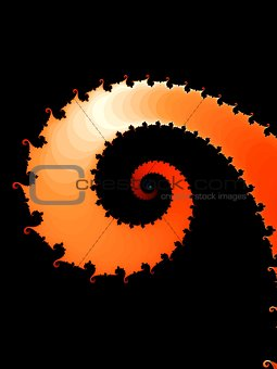 Fractal background with spiral