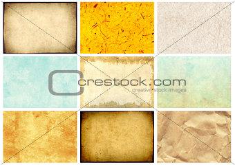 Set of paper textures
