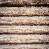 Weathered wooden logs