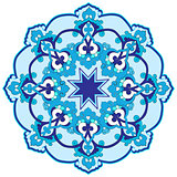 blue oriental ottoman design thirty-two