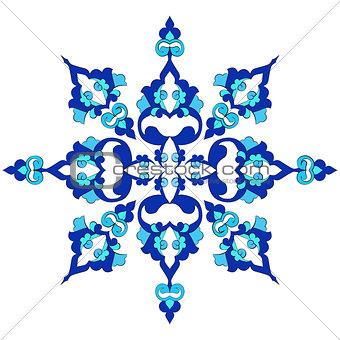 blue oriental ottoman design twenty-nine