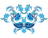blue oriental ottoman design twenty-one