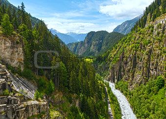 Summer mountain canyon (Alps, Switzerland)