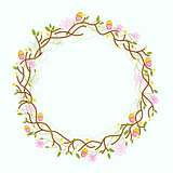 Happy Easter, Easter wreath decoration