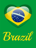 Brazil 2014 Heart with Brazilian Flag