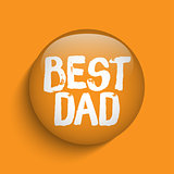 Happy Fathers Day Orange Icon Button