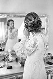 Bride getting ready.