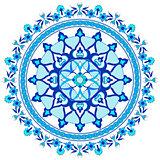 blue oriental ottoman design twenty-seven