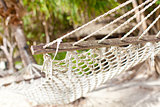 close-up of hammock