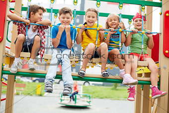 Kids on swing