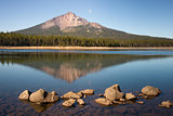 Mount Mcloughlin and Sky Lake, Cascade Mountain Range, Oregon State