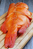 Smoked Red Snapper Fish
