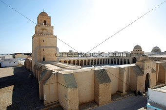 The Great Mosque from Kairouan in Tunisia