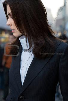 Cute woman in city ngs