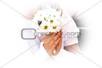 First Communion flowers.