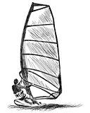 Windsurfing sketch