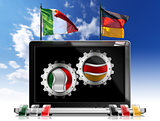Italy and Germany - Laptop Computer