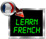 Learn French - Metal Billboard
