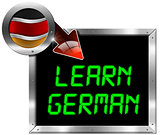 Learn German - Metal Billboard