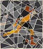 Soccer kick mosaic