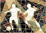 Soccer stars mosaic