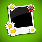 Photo frame with flowers