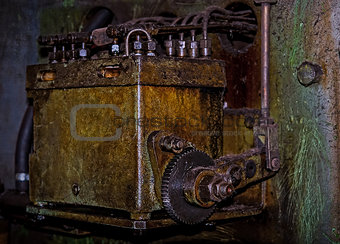 Vintage gloomy background of old  mechanism
