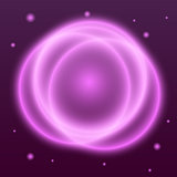 Abstract background with pink plasma circle effect
