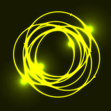 Yellow plasma circle effect background