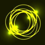 Yellow plasma circle effect background