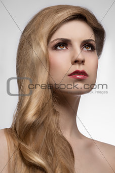 female elegant hair-style