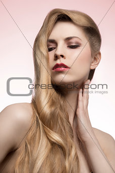 girl with fashion long hair-style