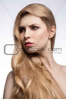 girl with long blonde hair