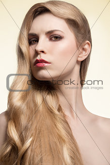 girl with silky long hair