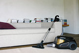 vacuum cleaner in room