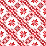 Seamless Ukrainian Slavic folk emboidery pattern