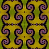 Seamless fractal pattern with spirals