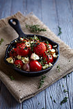Oven-Baked Cherry Tomatoes with Garlic and Feta
