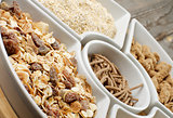 Muesli, Oat Flakes and Bran
