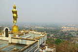 Scenery view golden Buddha,Nan,Thailand