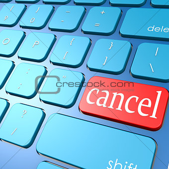 Cancel keyboard