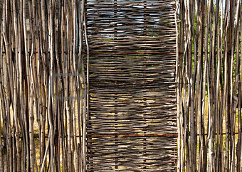 woven wooden fence