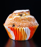 Muffin with raisin