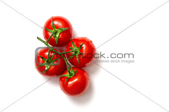 Top view of bunch of fresh tomatoes
