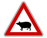 Hedgehog warning sign
