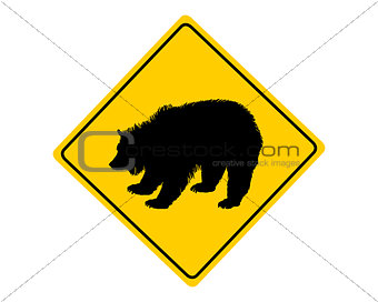 Grizzly warning sign