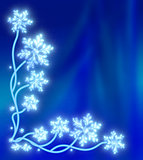 Magic snow tree with snowflakes
